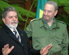 Lula y Fidel (Foto: Antonio Milena - ABr)