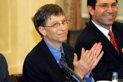 Bill Gates en Polonia en 2006