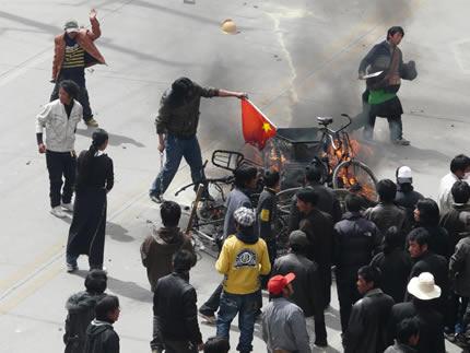 Protestas en Tíbet