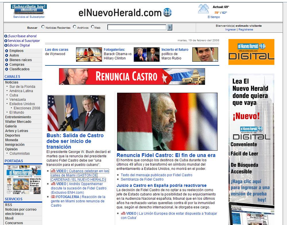 equinoXio » » Reacciones al anuncio de Fidel Castro en ...