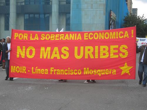 Pancarta del MOIR