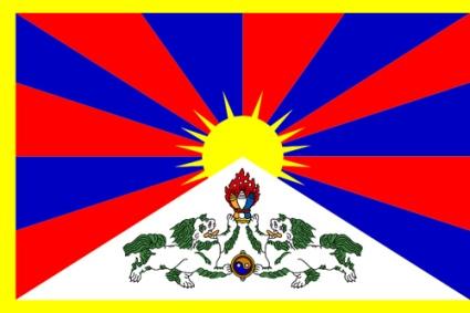 Flag of Tibet - Foto de daviddu - Licencia CC-Atribution-Sharealike