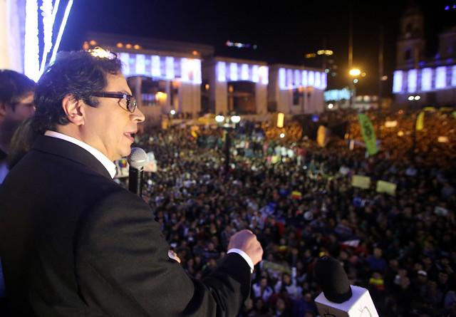 Gustavo Petro en la Plaza de Bolívar