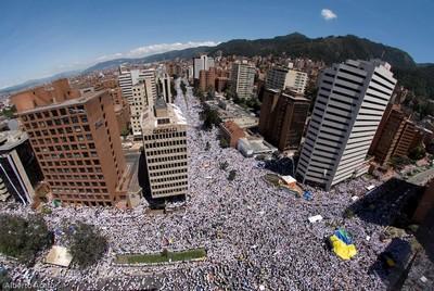 Foto de la marcha en Bogotá