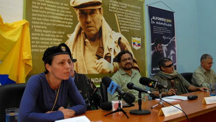 Las Farc en la mesa de negociación en La Habana