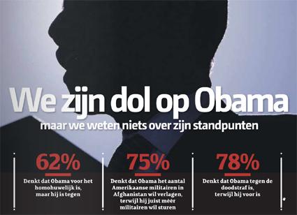 """""""Estamos locos por Obama"""", infografía tomada de www.depers.nl"""