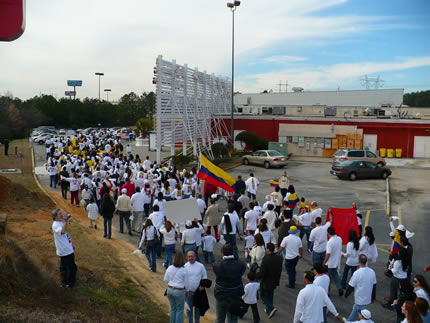 Marcha contra las FARC