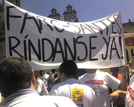 FARC-santes, ríndanse ya