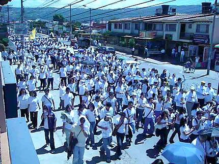 Marcha en Chía