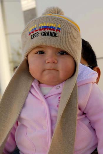 Niña en la marcha de San José, California