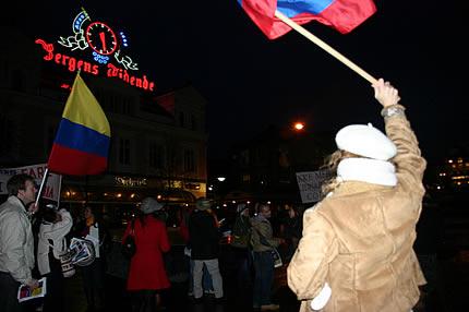 Manifestación en Bergen
