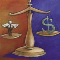 Balanza: medicina vs. dinero